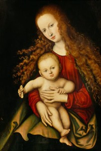 Lucas Cranach, Madonna & Child with a Piece of Bread, ca. 1529